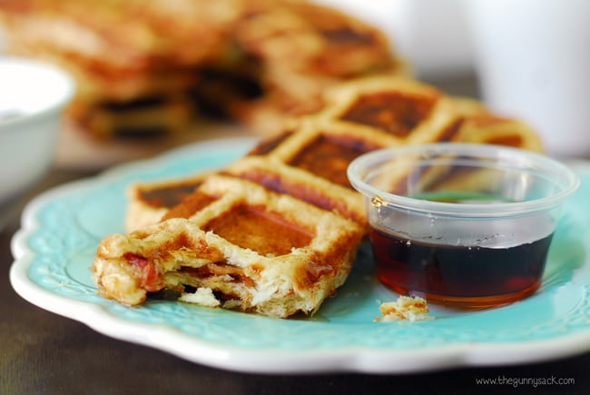 Waffle Strips and Syrup