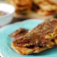 Bacon Stuffed Waffle Sticks