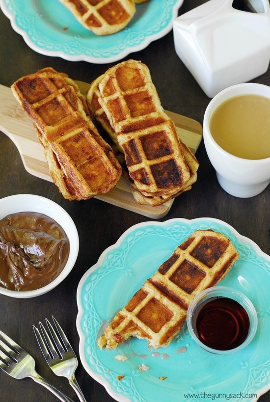 Bacon Waffle Cinnamon Dippers