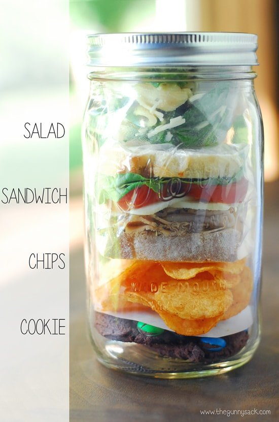 Mason Jar Food Layers