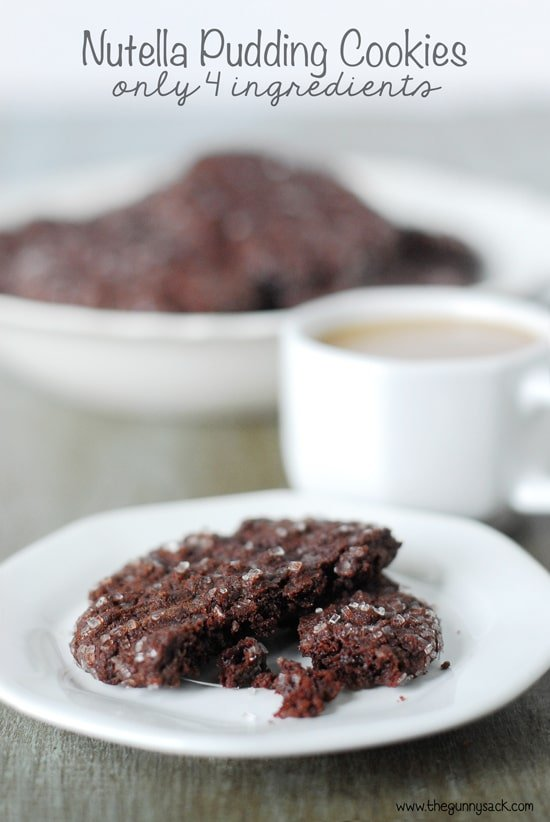 Nutella Pudding Cookies