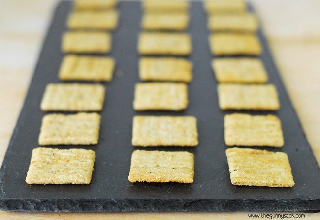 Triscuits On Tray