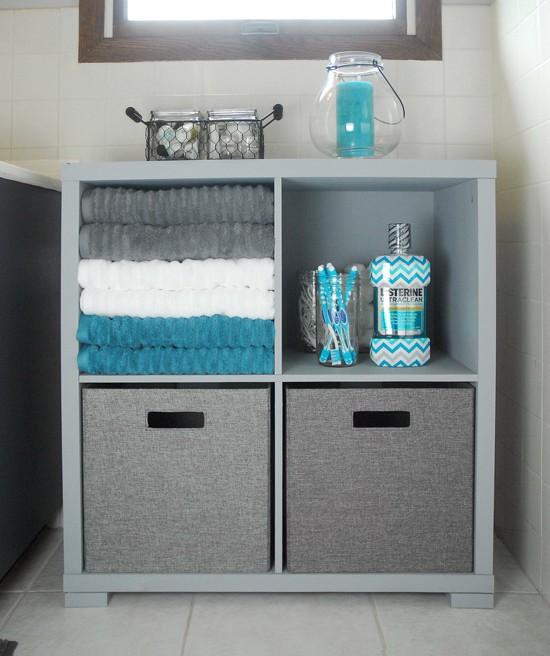 Bathroom Storage Cabinet Makeover The