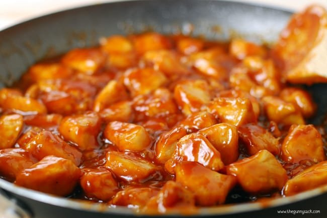 Orange chicken skillet