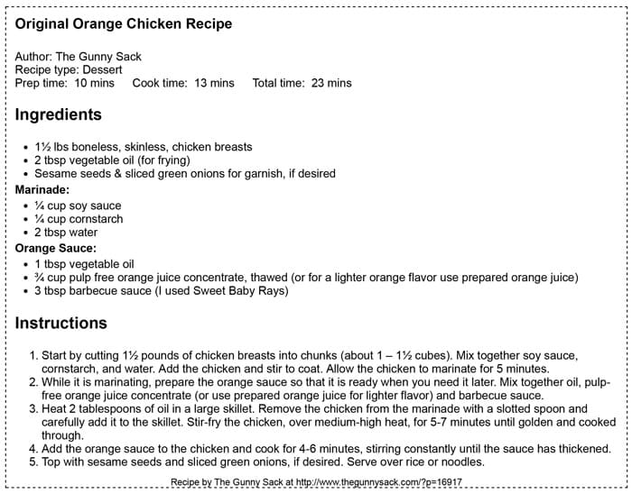 panda express orange chicken recipe ketchup without vinegar