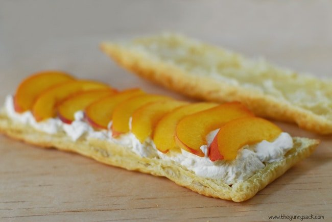 Peaches and Cream On Puff Pastry