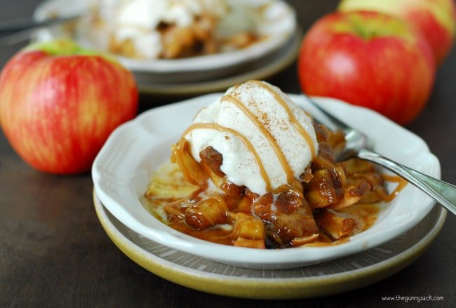 Blooming Baked Apples