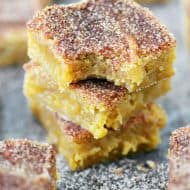 Brown Butter Snickerdoodle Blondies Recipe