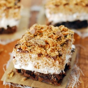 Butterfinger brownie bars recipe