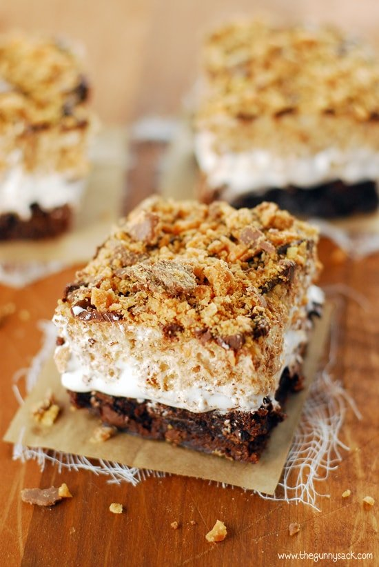 Butterfinger brownie bars recipe