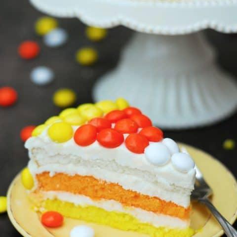 Candy Corn Cake slice