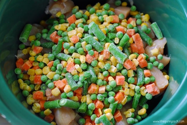 frozen veggies in slow cooker