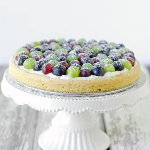 Fruit Pizza with Grapes