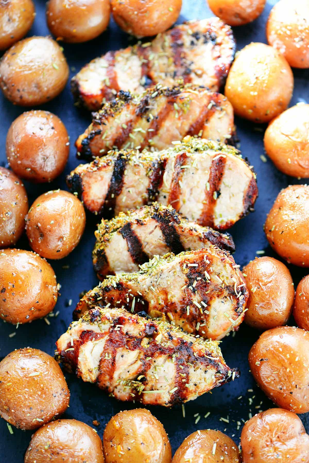 Garlic Rosemary Pork Tenderloin Recipe
