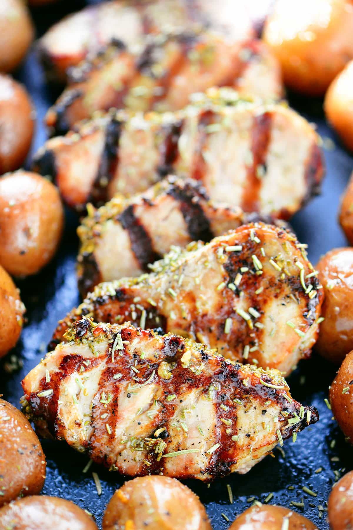 Garlic Rosemary Pork Tenderloin