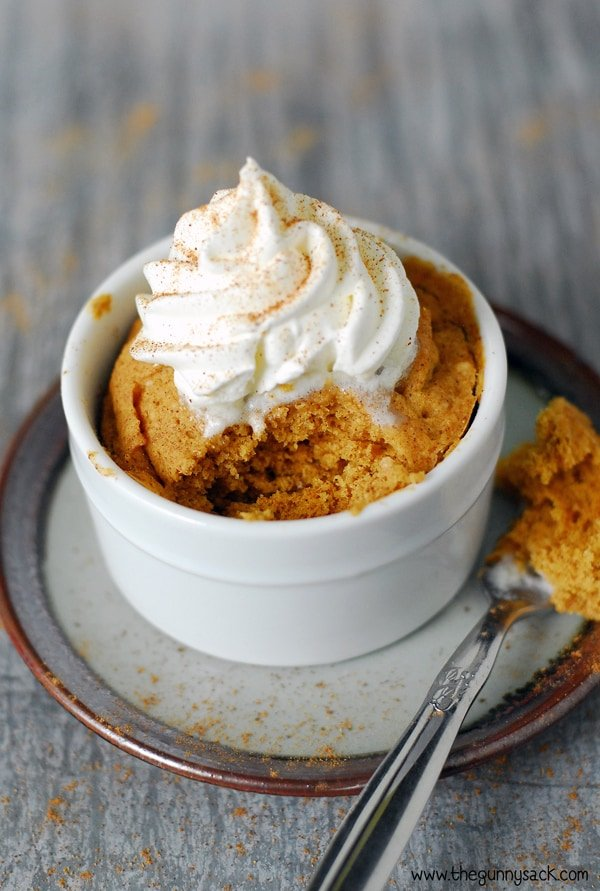 Microwave Pumpkin Mug Cake Recipe The Gunny Sack