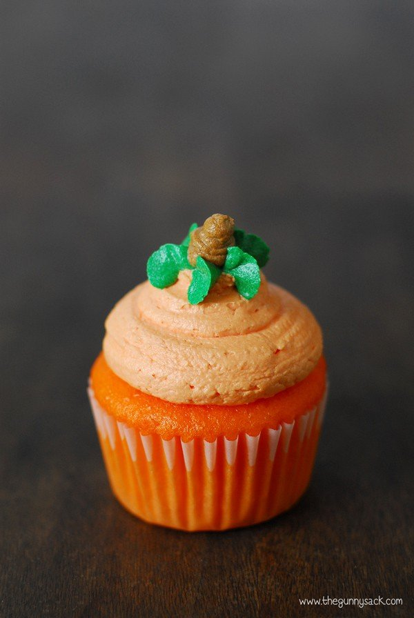pumpkin cupcakes - the gunny sack