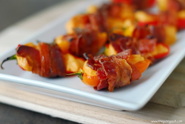 Bacon Wrapped Sweet Peppers