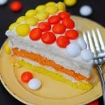 Candy Corn Cake Slice