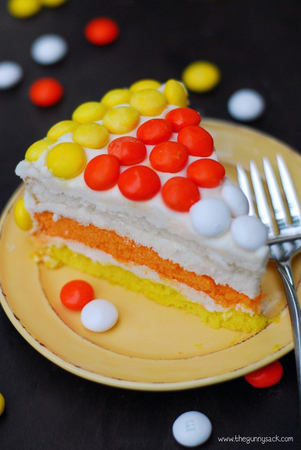 Candy Corn Layer Cake Recipe The Gunny Sack