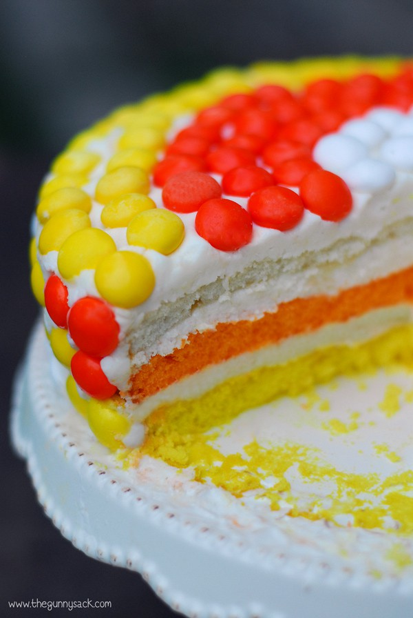 Candy Corn Layer Cake