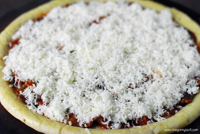 Cheese steak pizza recipe