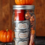 Pumpkin pampering mason jar gift
