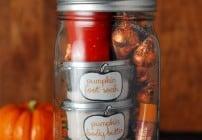 Pumpkin pampering mason jar gift