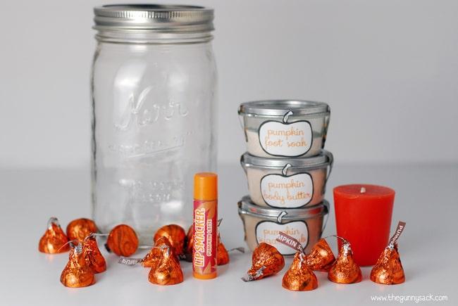 Pumpkin pampering supplies