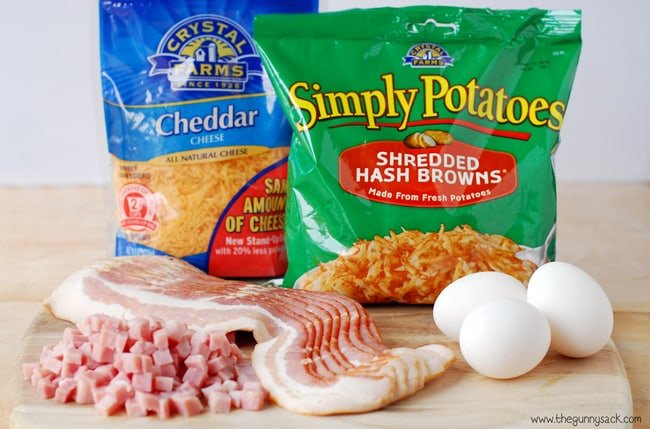 Hash Brown Breakfast Pizza Ingredients