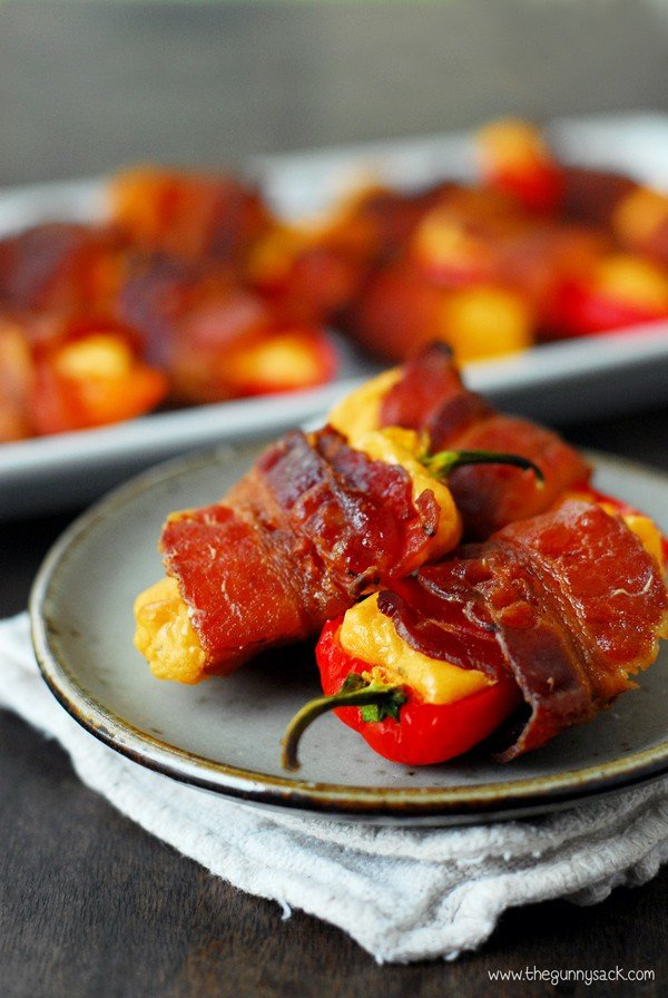 Spicy Bacon Wrapped Sweet Peppers - The Gunny Sack