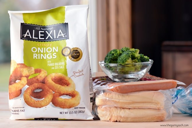 hot dogs and onion rings ingredients