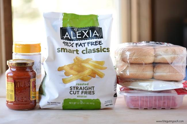 italian sloppy joes and straight fries ingredients