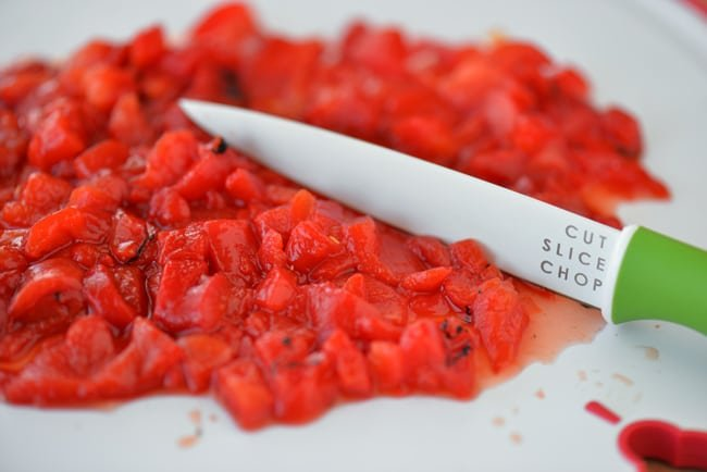 Chopped Red Peppers