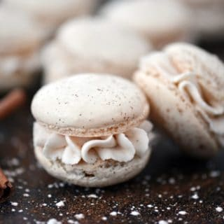 Eggnog Macarons Eggnog Buttercream