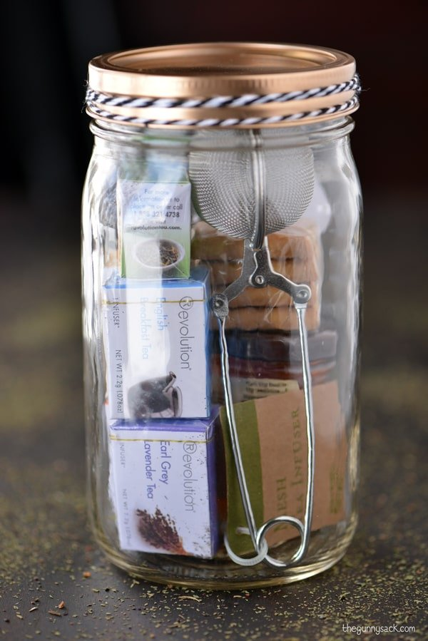 Tea Time Mason Jar Gifts The Gunny Sack