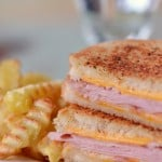 Grilled Ham and Cheese with Fries