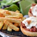 Italian Sloppy Joe and Parmesan Fries
