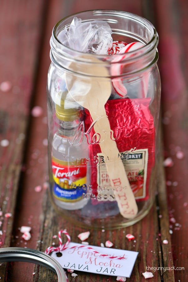 24oz Ball Jar Mugs, Wide Mouth; Regular sized soda cans or drink mixers; Mini bottles of alcohol; Cute straws; Twine and tags; Scissors; The most important part is that you find soda cans (or other mixer beverages) to fit inside your mason jar mugs! Normal soda cans will fit .