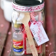 Mason Jar Gifts: Peppermint Mocha Java Jar