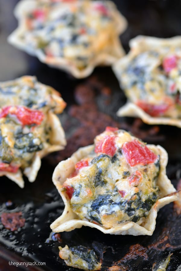 Spinach Artichoke Dip Bites and $75 Crisp Cooking Tools Giveaway