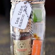 Tea Time Mason Jar Gifts