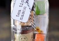 Tea time mason jar