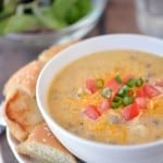 Bacon cheeseburger soup #CampbellsSauces