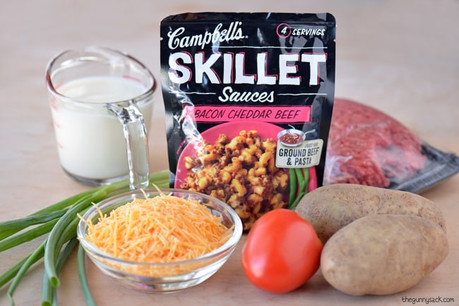 Campbell's Skillet Sauce Bacon Cheeseburger