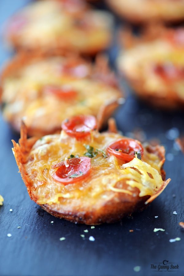 Mini Pepperoni Pizza Cupcakes