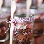 Peppermint Brownies In A Jar
