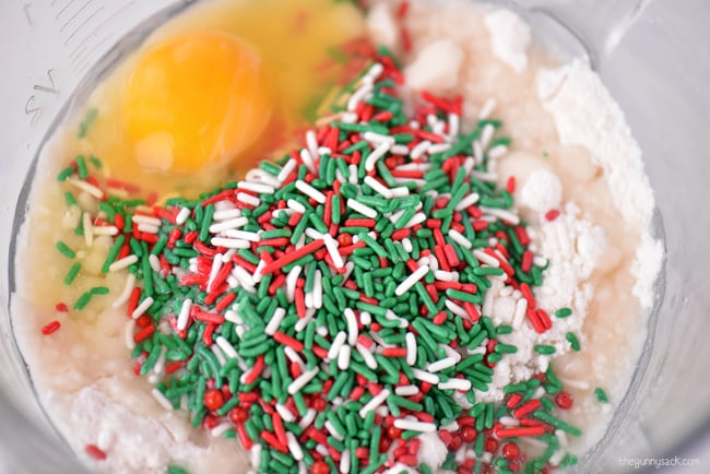 Red and green sprinkles
