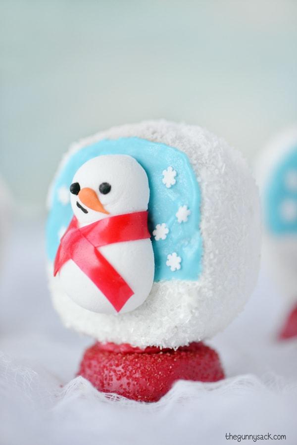 Snowball snow globe dessert