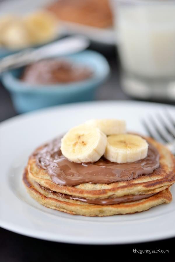 Banana Pancakes with nutella